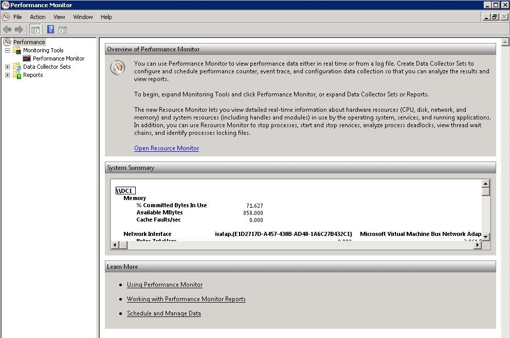 نرم افزار مانیتورنیگ سرور Performance Monitor