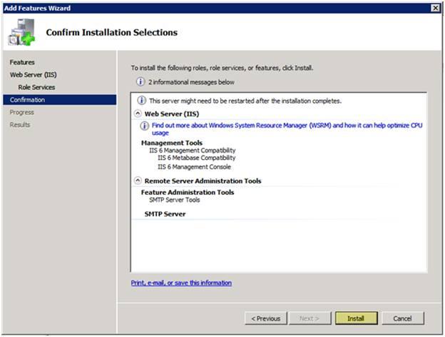 نصب SMTP