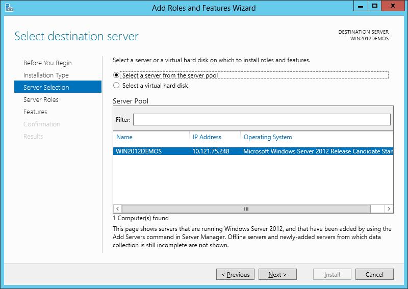 انتخاب سرور مناسب برای نصب IIS