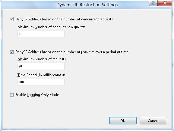 ماژول Dynamic IP Address Restrictions