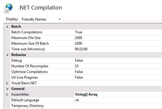 مدیریت تنظیمات compilation