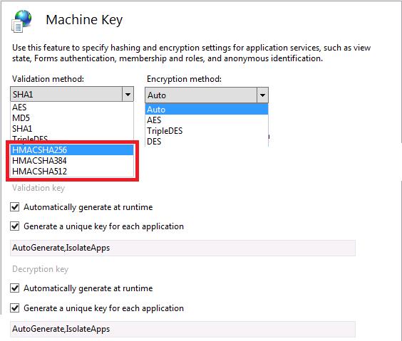 مدیریت تنظیمات Machine Key