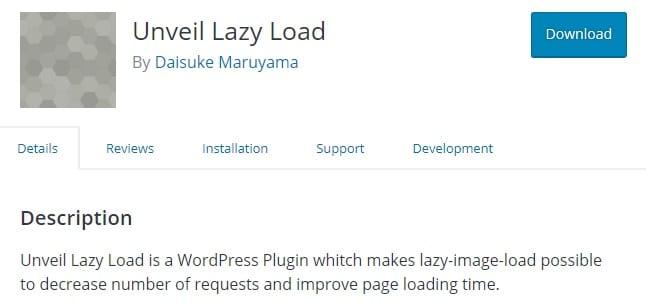 افزونه Unveil Lazy Load