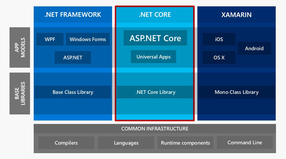 تفاوت سایر پلتفرمهای .NET با دات نت کور چیست