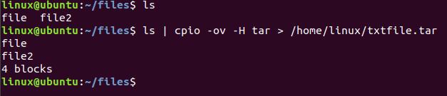 بررسی دستور cpio همراه با پیاده سازی عملی در لینوکس