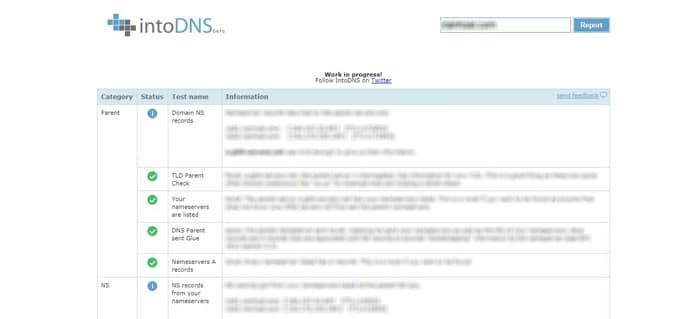 در ردیف Domain NS records، DNS های دامنه خود را مشاهده خواهید کرد
