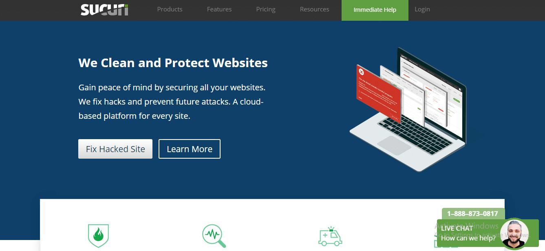 وب سایت sucuri