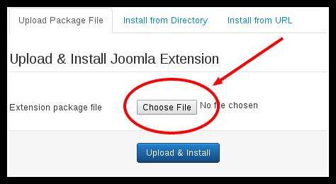 انتخاب فایل بسته افزونه