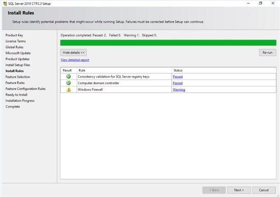خطاهای احتمالی در نصب SQL Server 2019