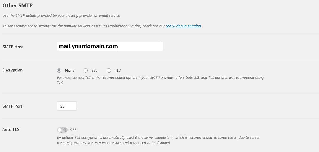 تنظیمات تب general در افزونه WP Mail SMTP (SMTP Options)
