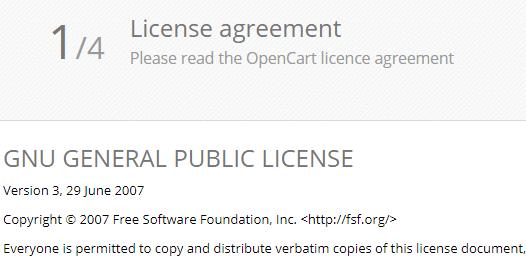 License Opencart