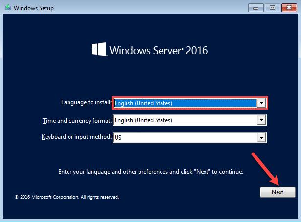 آموزش نصب ویندوز سرور 2016