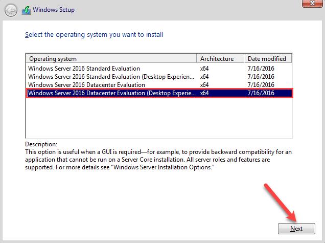 انتخاب نسخه مناسب ویندوزسرور