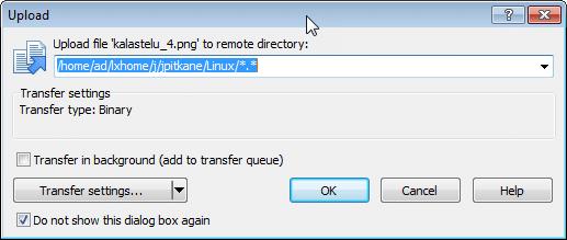 اعمال تنظیمات انتقال فایل