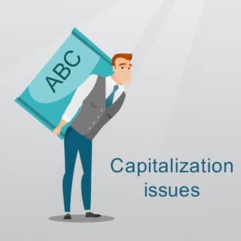 Capitalization issues