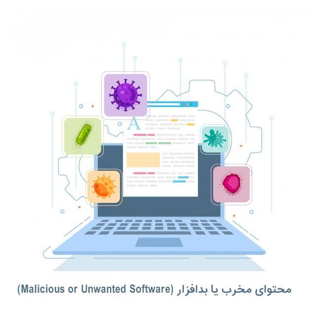 محتوای مخرب یا بدافزار (Malicious or Unwanted Software)