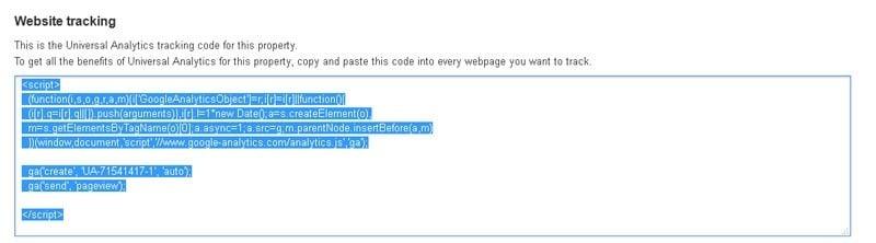 قبول قوانین و دریافت کد جاوا اسکریپت گوگل آنالیتیکس