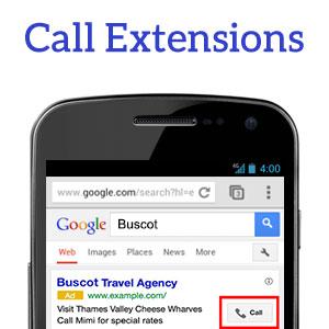 Call Extensions - اصطلاحات گوگل ادز