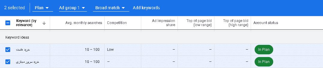 نمایش کلید واژه های مشابه کلید واژه شما