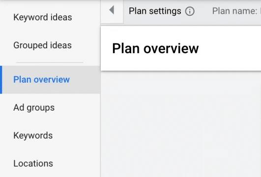 تب Plan overview