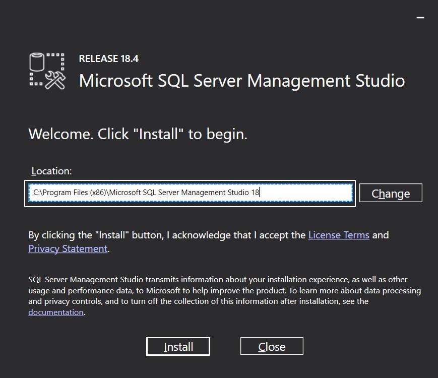 فایل نصب SSMS