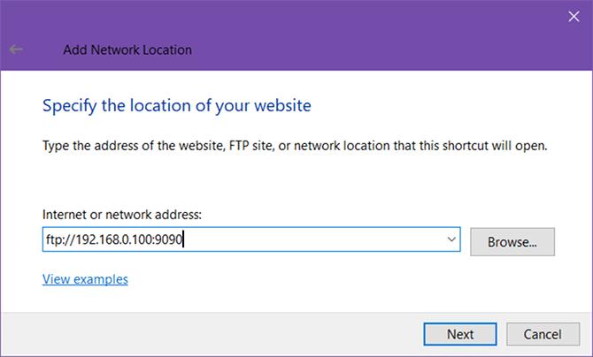 وارد کردن آدرس IP
