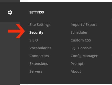 تنظیمات امنیتی در DNN