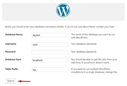 تنظیمات پایگاه داده در وردپرس