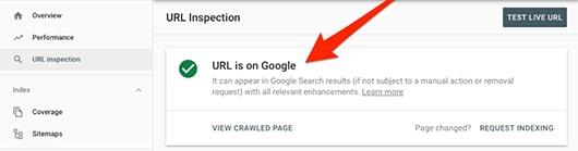 چگونگی استفاده از ابزار URL Inspection