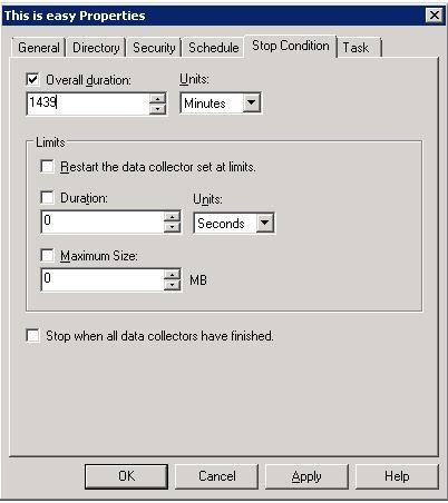 """قسمت """"Stop At"""" در ویندوز سرور 2008 غیر فعال است"""